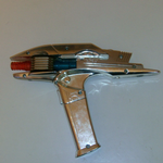 Star Trek 2009 Playmates photon phaser gun chrome role play @SOLD@
